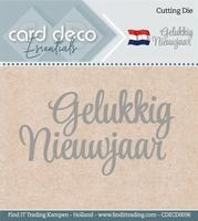 Card Deco Cutting Dies CDECD0036 Gelukkig Nieuwjaar