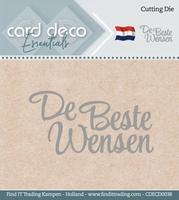 Card Deco Cutting Dies CDECD0038 De Beste Wensen