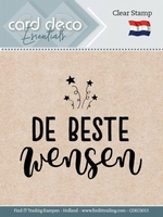 Card Deco Clear stamps CDECS013 De Beste Wensen