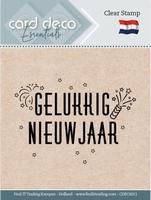 Card Deco Clear stamps CDECS011 Gelukkig Nieuwjaar