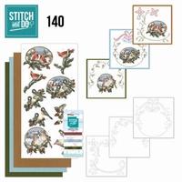 Stitch and Do borduursetje STDO140 Nostalgic Christmas Birds