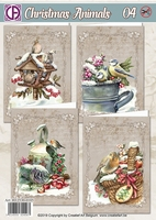 Creatief Art RE2530-0105 Reddy Christmas Animals 04 Vogels