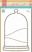 MD Craft Stencil PS8074 Stolp- Bell Jar by Marleen