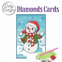 Dotty Designs Diamonds Cards DDDC1005 Happy Snowman