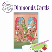 Dotty Designs Diamonds Cards DDDC1006 Gingerbread Dolls