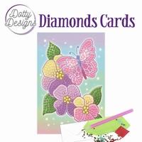 Dotty Designs Diamonds Cards DDDC1012 Purple Flowers - bloem