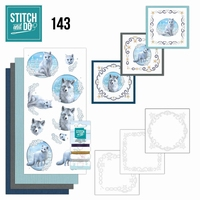 Stitch and Do borduursetje STDO143 Winter Foxes