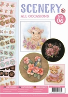 A4 Push Out book Scenery 6 POS10006 All Occasions