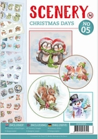 A4 Push Out book Scenery 5 POS10005 Christmas Days