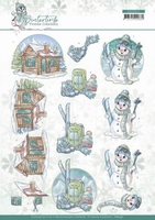 Yvonne Creations Winter Time 3D Knipvel CD11571 Ski