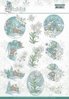 Yvonne Creations Winter Time 3D Knipvel CD11572 Edelweiss