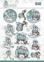 Yvonne Creations Winter Time 3D Knipvel CD11574 Penguin