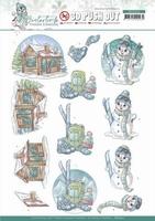 Yvonne Creations Winter Time 3D Pushout SB10502 Ski