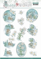 Yvonne Creations Winter Time 3D Pushout SB10503 Edelweiss