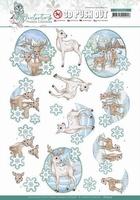 Yvonne Creations Winter Time 3D Pushout SB10504 Deer