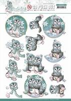 Yvonne Creations Winter Time 3D Pushout SB10505 Penguin