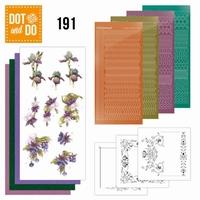 Dot and Do DODO191 Pretty Purple Flowers