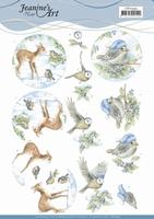 3D Knipvel Jeanine's Art CD11595 Winter Woodland