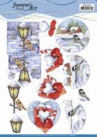 3D Knipvel Jeanine's Art CD11224 Winter Scenes