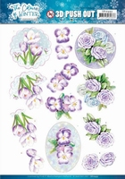 Jeanine The colours of winter 3D Pushout SB10493 Purple