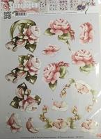Marieke Design 3D PushOut SB10010 Bloemen rozen