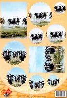 Card deco PushOut PO10003 Koeien