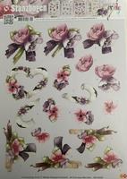 Marieke Design 3D PushOut SB10009 Bloemen hartje