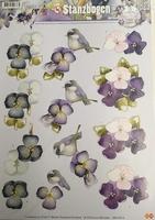 Marieke Design 3D PushOut SB10013 Spring Vogeltje/bloemen