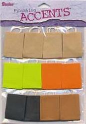 Darice Scrapbook accents bags oranje/groen/zwart/bruin