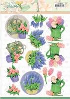 Jeanine's Art Welcome Spring 3D Knipvel CD11633 Hyacinth