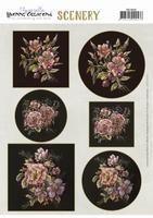 Yvonne Creations PushOut Scenery CDS10034 Aquarella Flowers