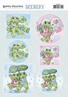 Yvonne Creations PushOut Scenery CDS10022 Happy Frogs/kikker