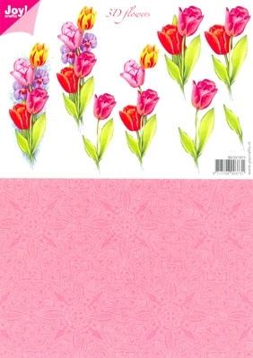 A4 Knipvel Joy 3D Flowers 6010/0011 Tulpen