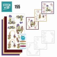 Stitch and Do borduursetje STDO155 Beautiful Garden Allium