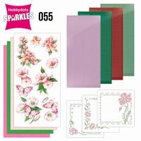 Sparkles Set 55 SPDO055 Pink Flowers
