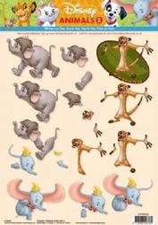 A4 Knipvel Studio Light Disney Animals 2