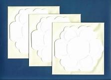 Van de kaart Bloemkaart crème