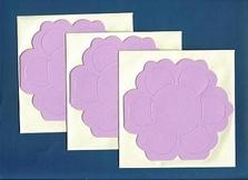 Van de kaart Bloemkaart roze
