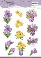 3D Knipvel Jeanine's Art CD11626 Spring Flowers
