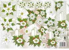 A4 Kerstknipvel Nel van Veen 2265 Witte kaarsen/kerstster