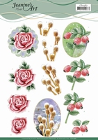 3D Knipvel Jeanine's Art CD11587 Winter Flowers