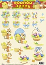 A4 Knipvel Studio Light Easter Bunny STAPEB01