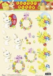 A4 Knipvel Studio Light Easter Bunny STAPEB02
