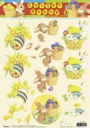 A4 Knipvel Studio Light Easter Bunny STAPEB03