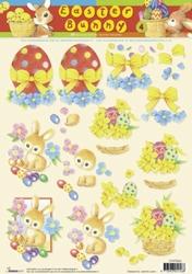 A4 Knipvel Studio Light Easter Bunny STAPEB04
