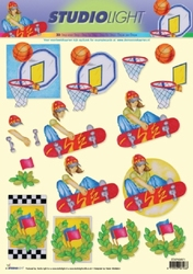 A4 Knipvel Studio Light STSL 871 Sport basket/skateboard