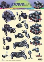 A4 Knipvel Studio Light STSL 892 Oldtimer auto/moto/trein