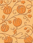 Cuttlebug Embossing stencils 37-1906 Pumpkin harvest
