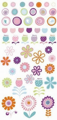 Scrapbooking S.E.I. Puff stickers Ally's wonderland