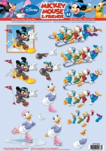 A4 Knipvel Studio Light Disney Mickey Mouse & Friends 35